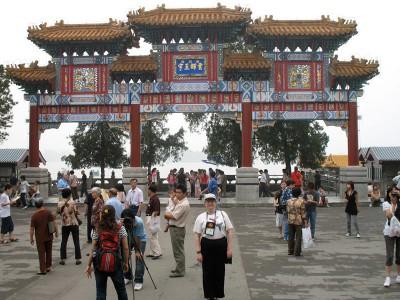 JoAnn at Summer Palace gate, Beijing, 2008