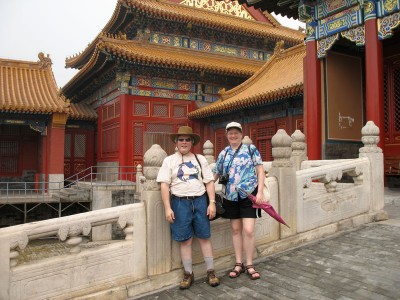 Michael Good and JoAnn Close in Forbidden City, Beijing, 2008
