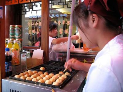 Squid Dumplings in Shanghai, 2008