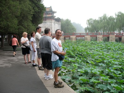 Stanford choristers at Summer Palace, Beijing, 2008