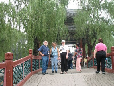 Rick, Joanne, and JoAnn at the Summer Palace, Beijing, 2008