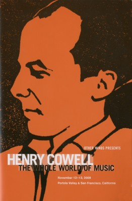 Henry Cowell at Other Minds program cover