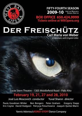 West Bay Opera poster for Der Freischütz