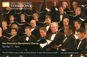 San Francisco Symphony Chorus 2010 promotional postcard