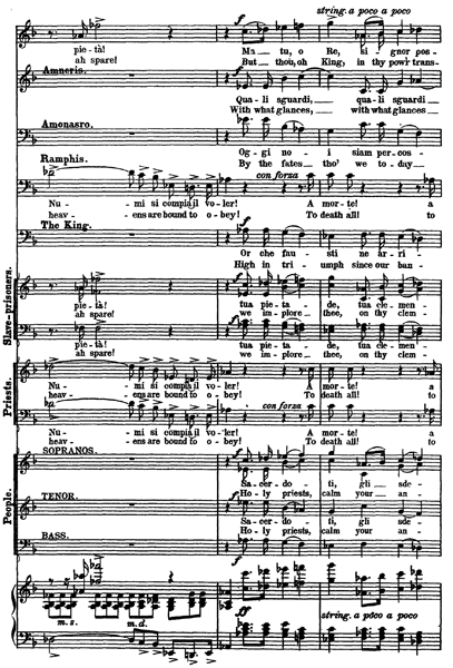 Page 157 of the vocal score to Aida
