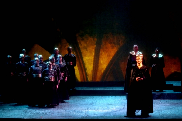 Sarastro and Priests in Magic Flute Act II