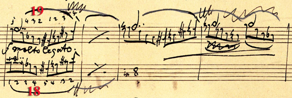 Musical score of Brahms editorial example