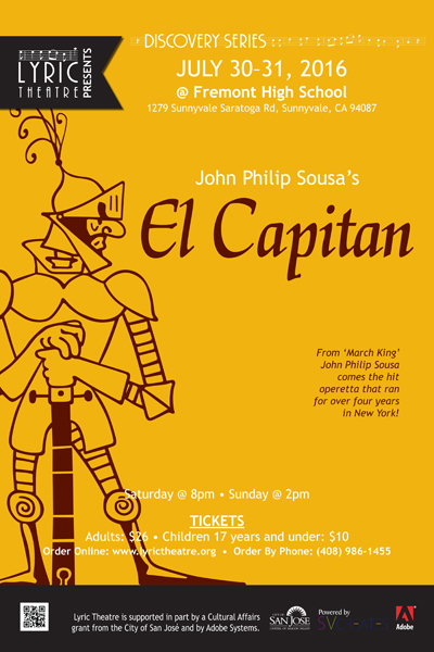 Lyric Theatre Presents John Philip Sousa's El Capitan