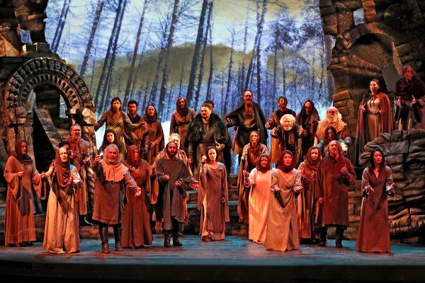 West Bay Opera Chorus singing Patria oppressa - Macbeth Act IV.