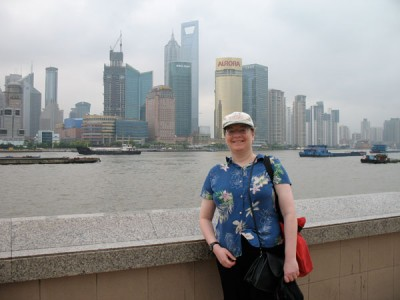 JoAnn and Pudong, Shanghai, 2008