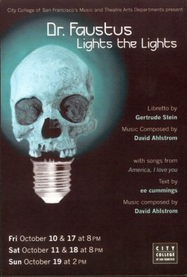 CCSF poster for Doctor Faustus Lights the Lights