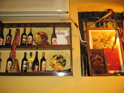 The Puccini Room in a Lucca restaurant