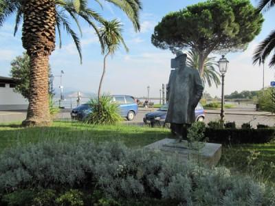 Puccini Statue in Torre del Lago