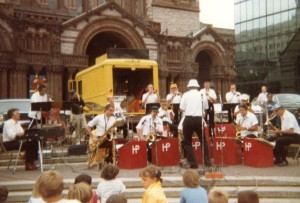 Herb Pomeroy Band in Copley Square, Boston, early 1980s