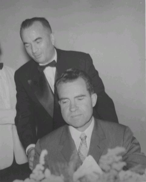 Nixon at Bogotá restaurant, 1958