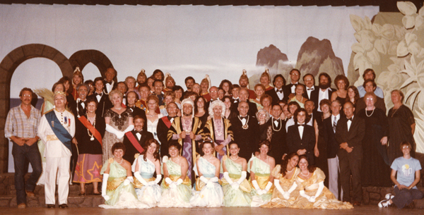 Utopia Limited cast photo, Gilbert and Sullivan Society of San Jose, 1979